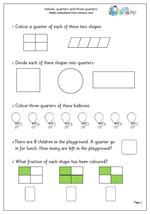 math worksheet : year 2 fractions worksheets  urbrainy : Year 2 Fractions Worksheets