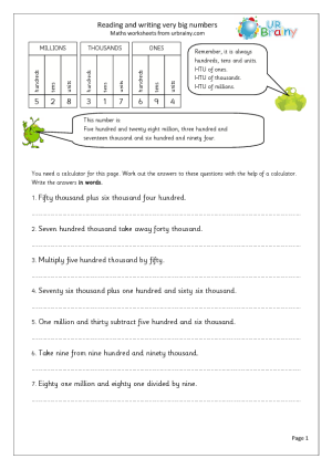 Reading and writing very large numbers - URBrainy