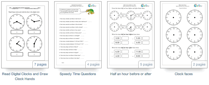 Reading the time worksheets - URBrainy