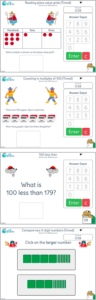 Year 3 on-screen number activities